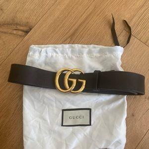 Gucci Wide Leather Belt